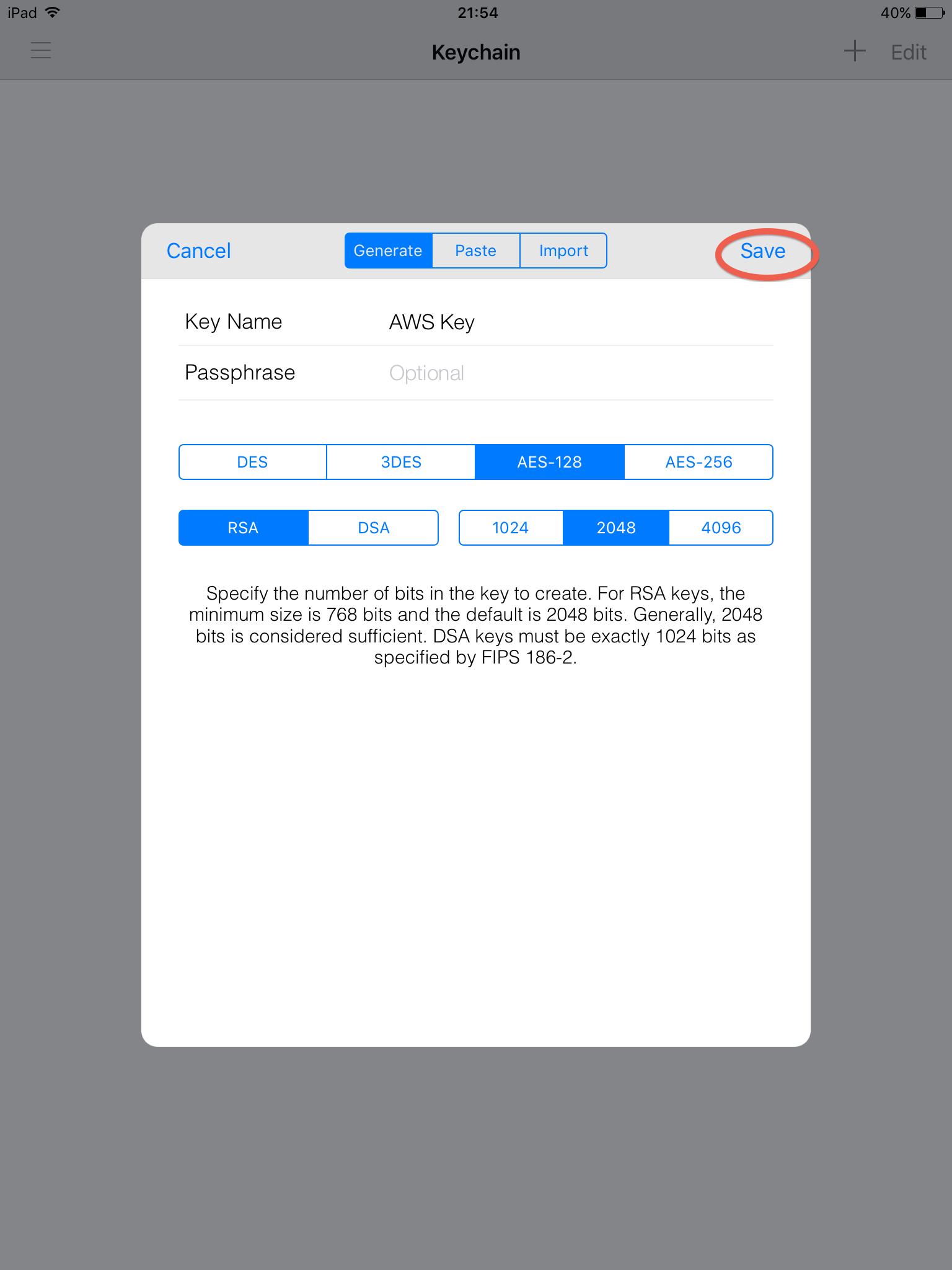 Create RSA Key